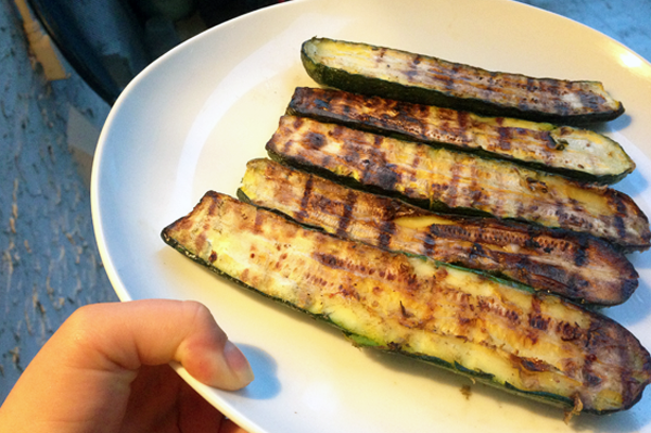 Grilled Zucchini Halves | The Fresh Day